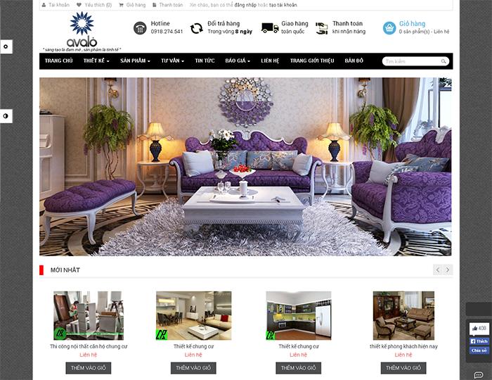 thiết kế web bán hàng, thiết kế web nội thất, thiết kế web nhà đẹp, thiết kế web trang trí nội thất - 2