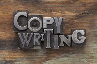 copywriting in metal type blocks